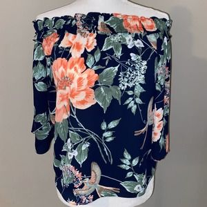 New York & company Floral Print blouse size xs
